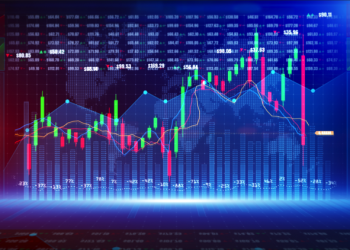 Digital stock market or forex trading graph and candlestick chart suitable for financial investment. Financial Investment trends for business background