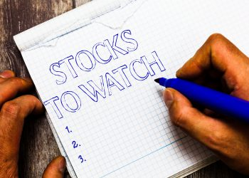 Handwriting text writing Stocks To Watch. Concept meaning being heavy broker and watch every increase decrease