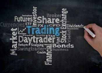 Trading Cloud is written by hand on blackboard.