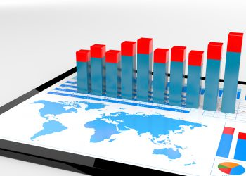 Financial report on digital tablet